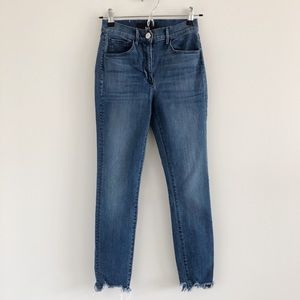 3x1 W3 High Rise Skinny Crop Jeans in Remo Blue 25